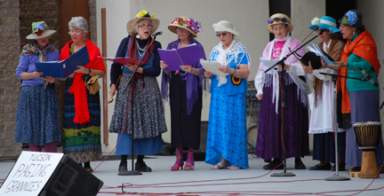 Raging Grannies, Peace Fair 2010.