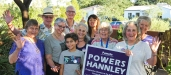 Pamela Powers Hannley & volunteers