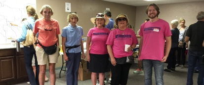 Pamela Powers Hannley & volunteers