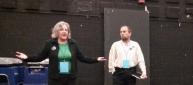 Pamela Powers Hannley and Scott Prior
