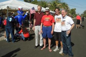 Mark Stegeman, Jim Hannley, Ward 6 City Councilman Steve Kozachik, and Mayor Jonathan Rothschild, 2013.