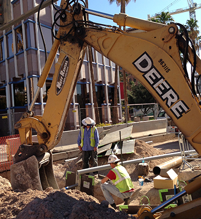 Construction in downtown Tucson