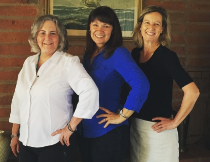 Pamela Powers Hannley (LD9 House candidate), Rep. Victoria Steele and Kirsten Engel (LD10 House candidate).