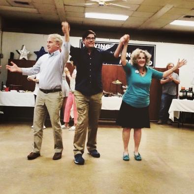 Rep. Randy Friese, Senator Steve Farley, and Rep. Pamela Powers Hannley