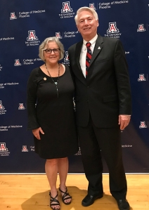 Rep. Pamela Powers Hannley with Phoenix COM Dean Dr. Guy Reed