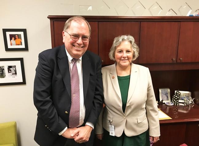 Rep. Pamela Powers Hannley and Brian Clymer