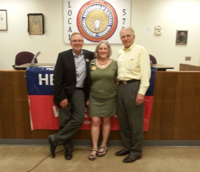 John Nichols, Rep. Pamela Powers Hannley & Phil Lopes