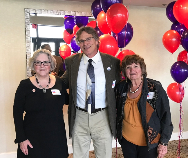 Rep. Pamela Powers Hannley, Paul Stapleton-Smith and Kitty Kennedy