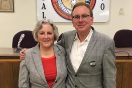 John Nichols and Rep. Pamela Powers Hannley