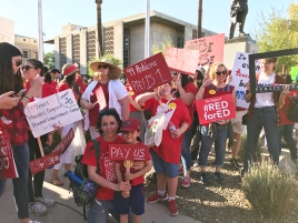 Teacher protests in Arizona