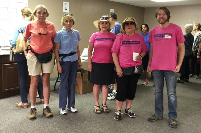 Rep. Pam Powers Hannley, Nathan Davis and other volunteers.