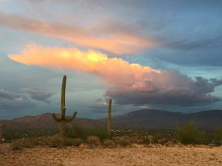 Sunset over Sabino Canyon