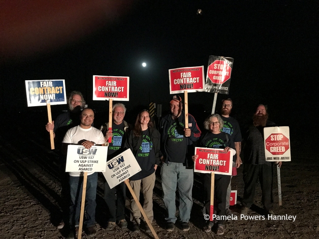 National Writers Union at ASARCO strike line