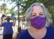 Making masks during pandemic