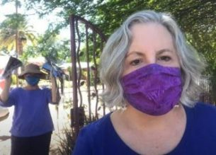 Making masks during pandemic