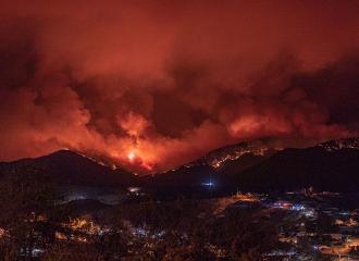 Telegraph fire near Globe